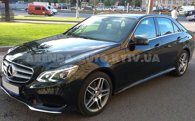 Аренда Mercedes E-class W212 Restyling на свадьбу Киев