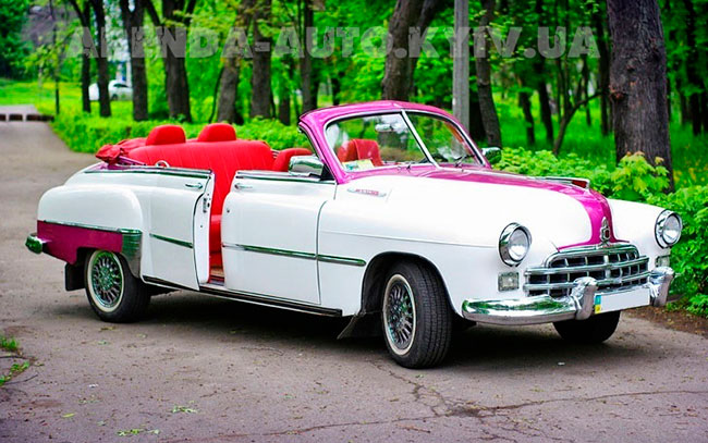 Аренда Зим Газ 12 1956 кабриолет на свадьбу Киев