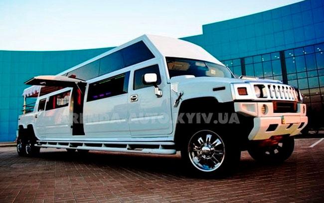 Аренда Mega Hummer H2 2014 12 метров на свадьбу Київ