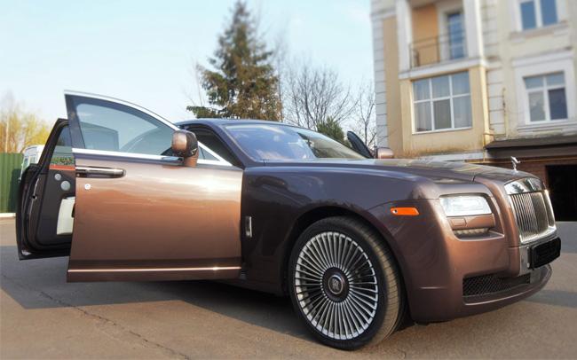 Аренда Rolls Royce Ghost на свадьбу Киев
