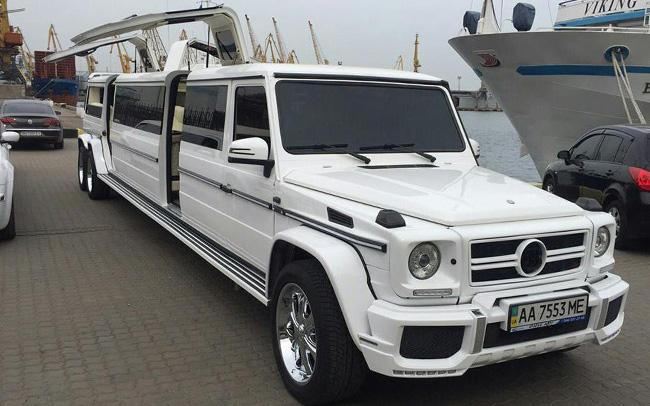 Аренда Лимузин Mercedes G-Class на свадьбу Киев