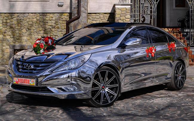 Аренда Hyundai Sonata YF Exclusive на свадьбу Киев